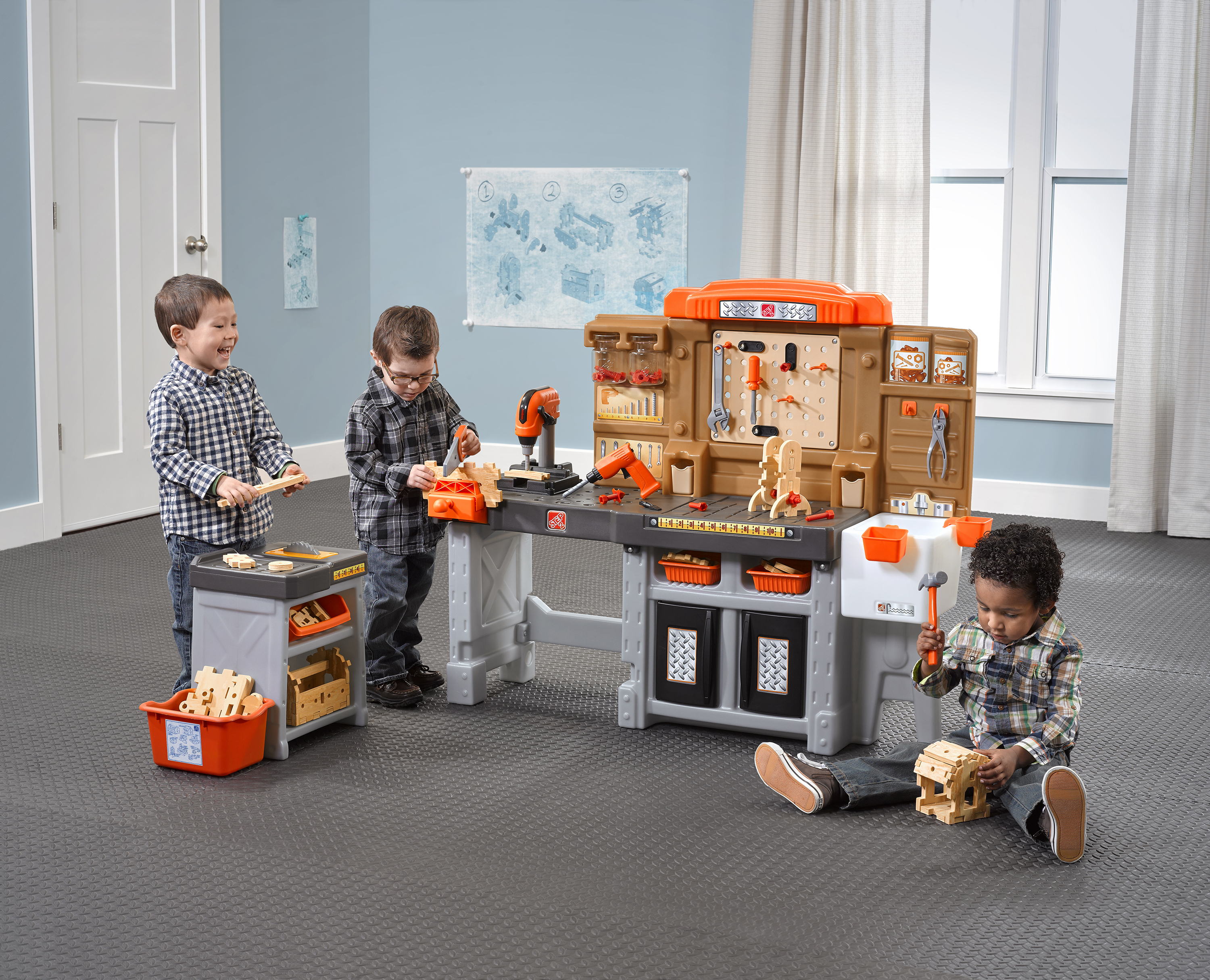 Step2 Pro Play Workshop & Utility Bench with Plastic Kids Play Tool Set by Step2 Company LLC
