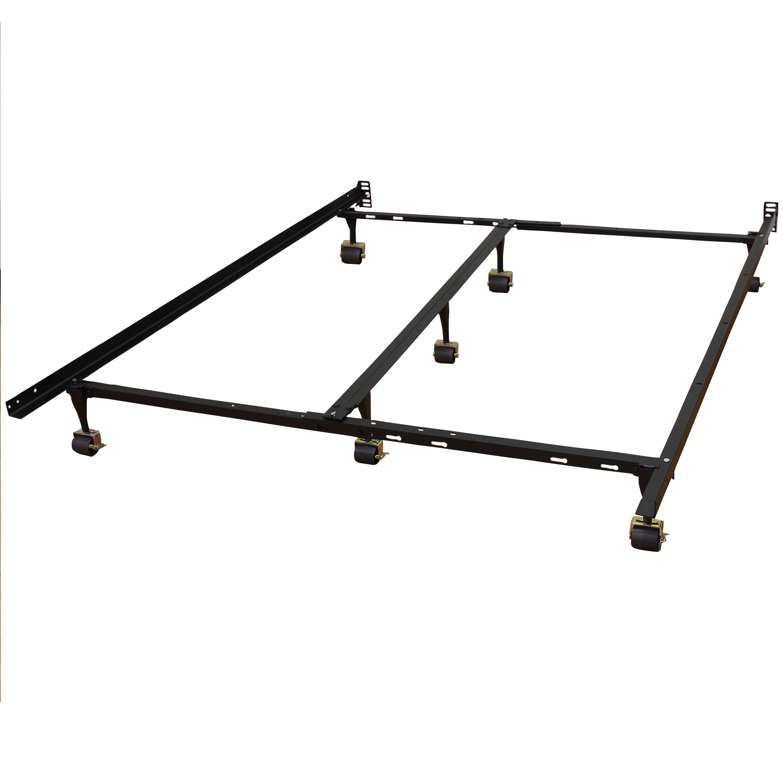 Modern Sleep Hercules Universal Heavy-Duty Metal Bed Frame | Adjustable Width Fits Multiple Sizes