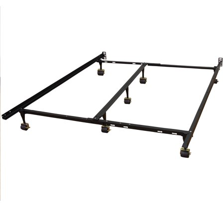 Ash Modern Bed - Modern Sleep Hercules Universal Heavy-Duty Metal Bed Frame | Adjustable Width Fits Multiple Sizes