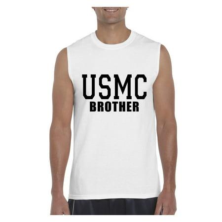 bd7af749 USMC Brother Marines Homecoming Men Ultra Cotton Sleeveless T-Shirt -  Walmart.com