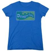 Dragon Tales Logo Distressed Womens Short Sleeve Shirt