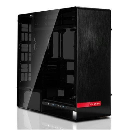 In Win 909 E-atx Chassis - Full-tower - Black - Aluminum, Tempered Glass - 10 X Bay - 0 - Atx, Micro Atx, Eatx, Mini Itx Motherboard Supported - 37.48 Lb - 8 X Fan[s] Supported - 4 X (909-black-)