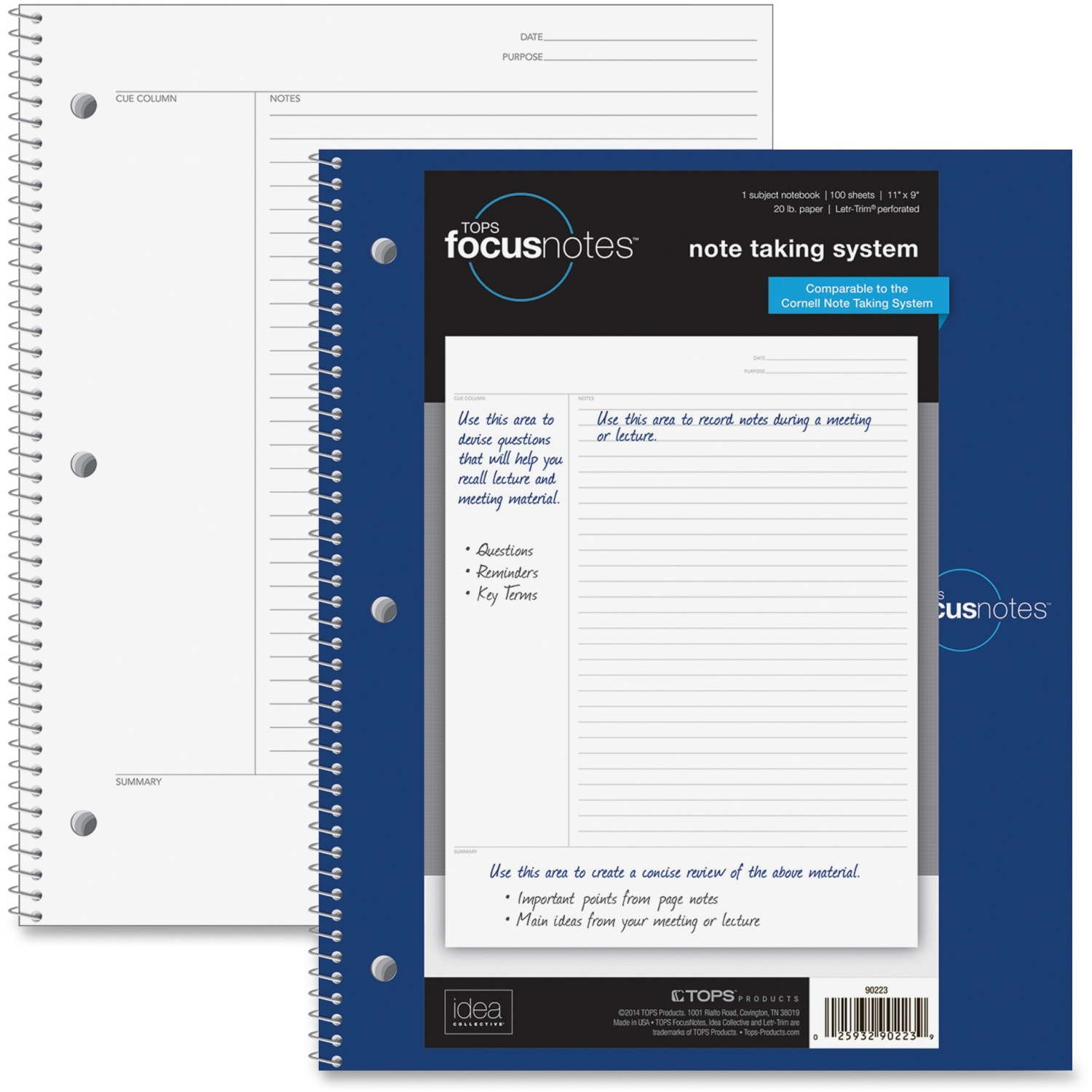 Tops Idea Collective FocusNotes Wirebound Notebook