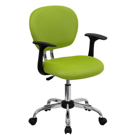 A Line Furniture Rigmos Green Mesh Adjustable Swivel Office Chair with Arms and Chrome Base ()