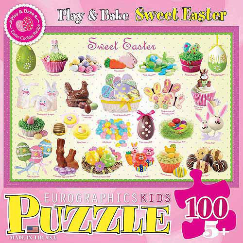 EuroGraphics Sweet Easter 100-Piece Puzzle