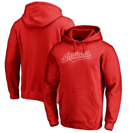 Cleveland Indians Fanatics Branded Team Wordmark Pullover Hoodie - Red