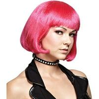 Hot Pink Bob Wig Adult Halloween Accessory