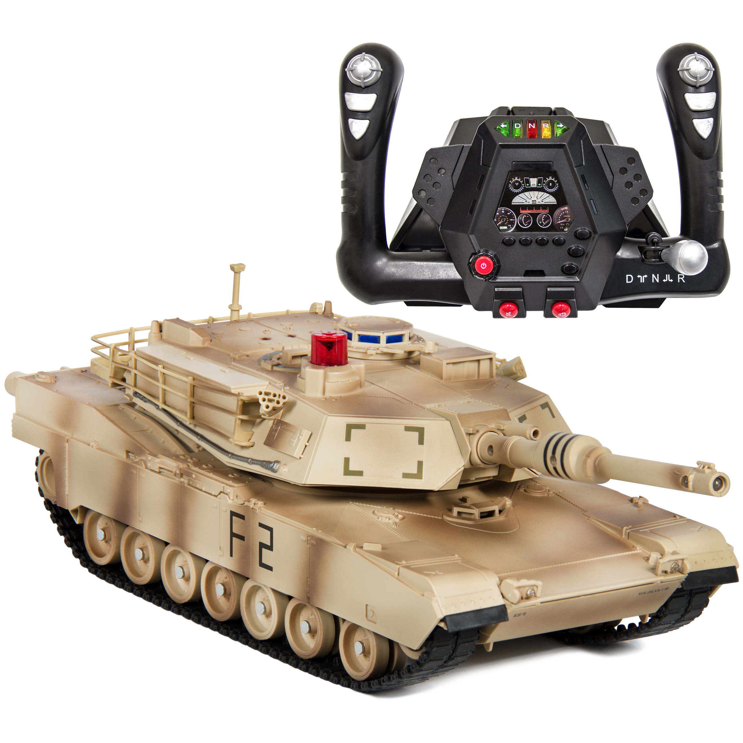 Best Choice Products 1/14 Scale RC Military Tank Radio Remote Control Car- Yellow Camouflage