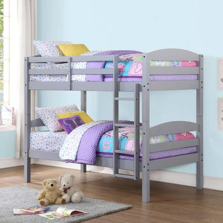 Mainstays Twin Over Twin Wood Bunk Bed, Multiple Finishes - Walmart.com