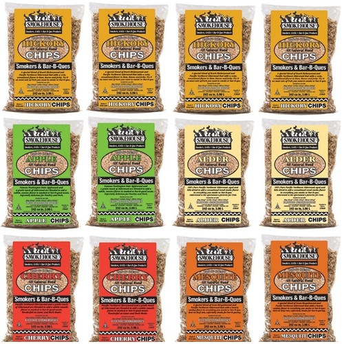 Smokehouse Products Assorted Flavored Wood Chips (12 Pack)