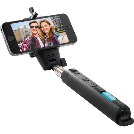 knox monopod selfie stick with bluetooth remote and zoom function black. Black Bedroom Furniture Sets. Home Design Ideas