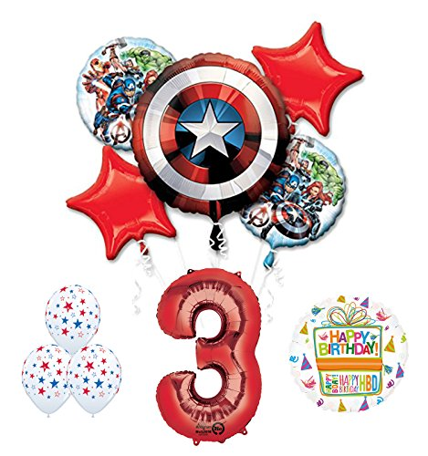 The Ultimate Avengers Super Hero 3rd Birthday Party Supplies