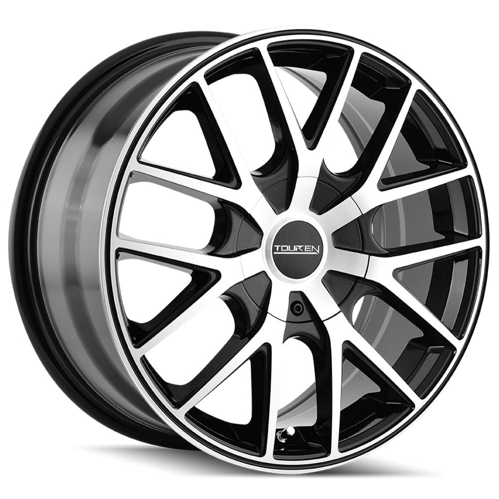 """16"""" Inch Touren TR60 16x7 5x100/5x114.3 +42mm Black/Machined Wheel Rim"""