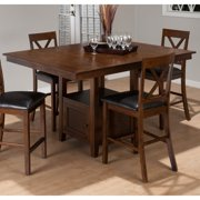 Jofran Olsen Oak Counter Height Dining Table with Storage