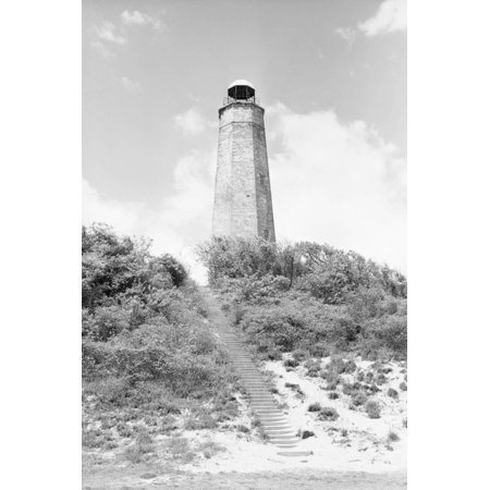 Old Postcard Lighthouse (Old Cape Henry Lighthouse Print Wall Art By Philip Gendreau )