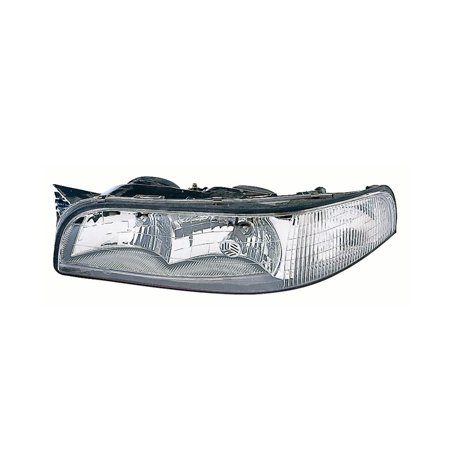 Replacement Driver Side Headlight For 97 99 Buick Lesabre 16525999 16525251