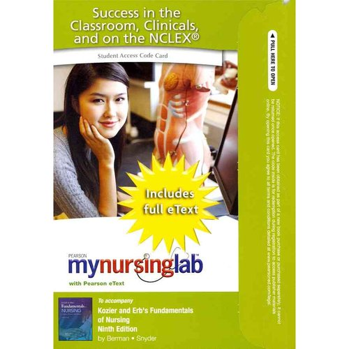 Mynursinglab with Pearson Etext -- Access Card -- For Kozier and Erb's Fundamentals of Nursing