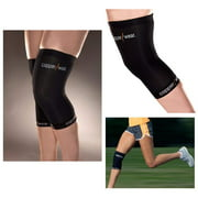 2 Elastic Copper Patella Knee Support Brace Sleeve Support Soft Wrap Sports