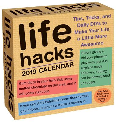 Life Hacks 2019 Calendar
