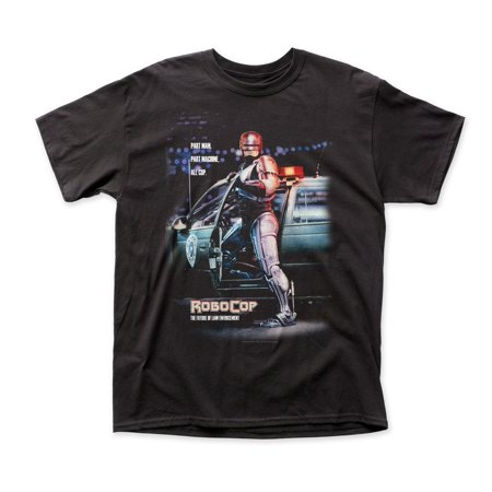 Robocop Mens T-Shirt - Movie Poster Part Man Machine All Cop (Large)](Cop Shirt)