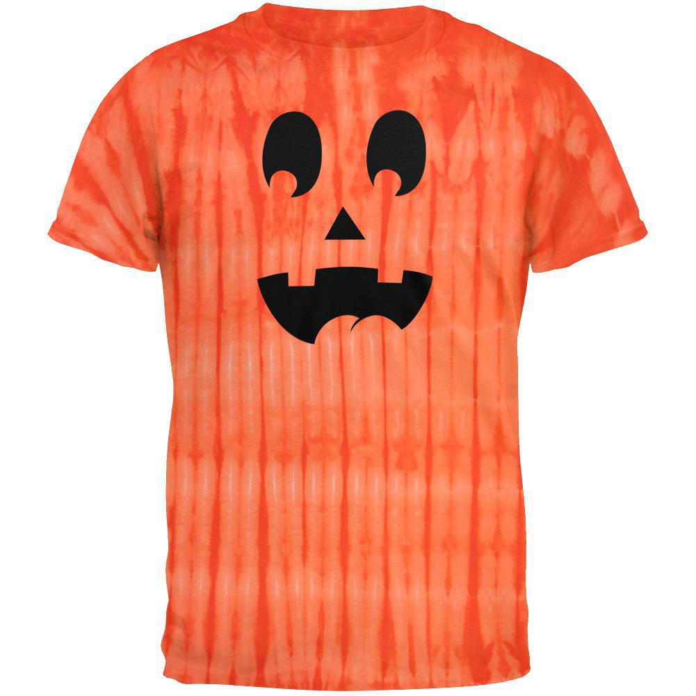 Jack-O-Lantern Surprised Face Tie Dye T-Shirt