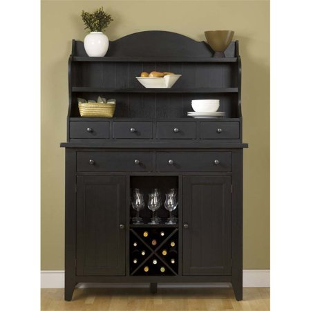 Liberty Furniture Hearthstone Wine Rack Server And Hutch In Rustic Oak