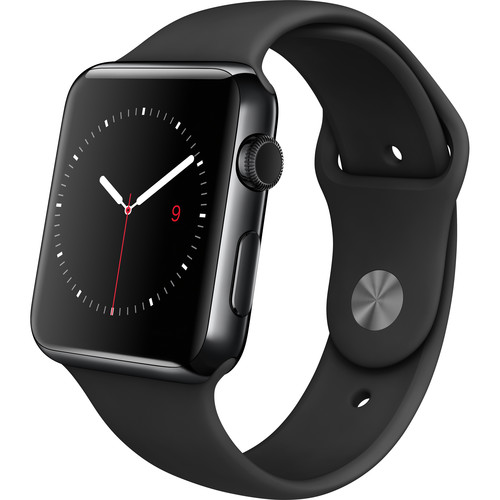 Refurbished Apple Watch Gen 1 42mm Space Black Stainless Steel - Black Sport Band MLC82LL/A