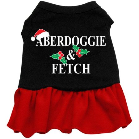mirage pet products aberdoggie christmas screen print dress black with red lg (14)