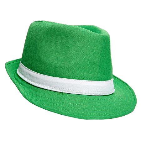 Bright Green Fedora Hat (Lime Green Fedora)
