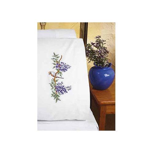 Janlynn Bird EMB Pillowcase Stamped Embroidery Pair
