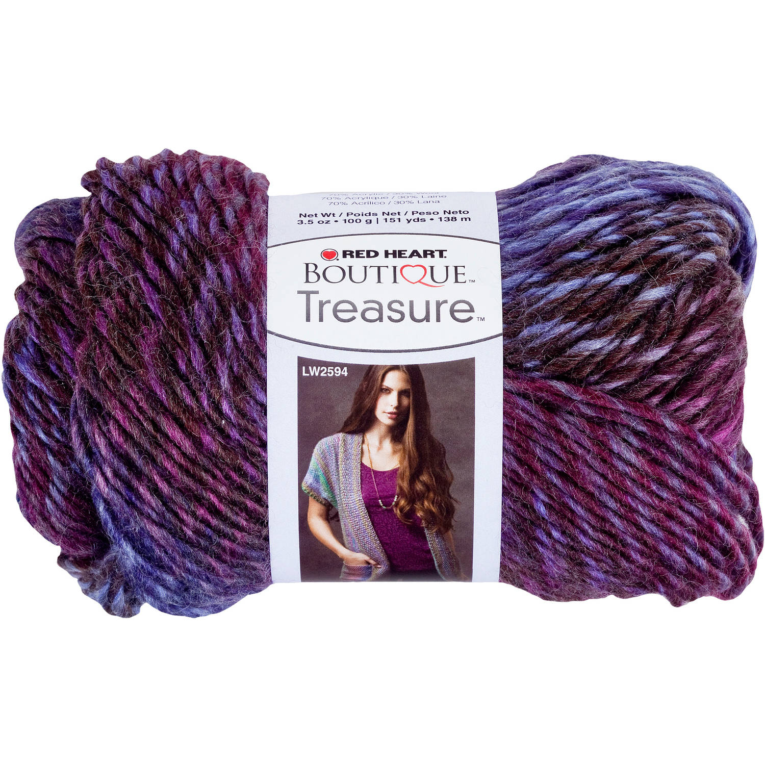 Red Heart Boutique Treasure Yarn, Available in Multiple Colors