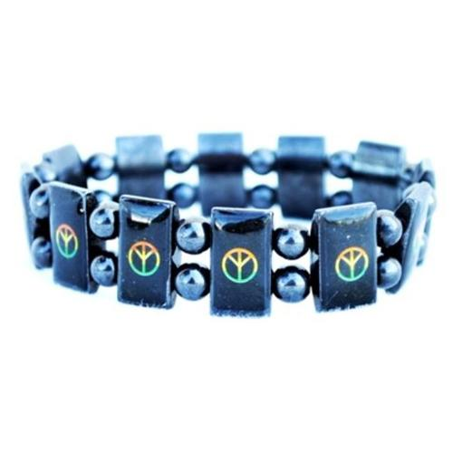 DDI 697776 Magnetic Peace Sign Stretch Bracelet Case Of 120