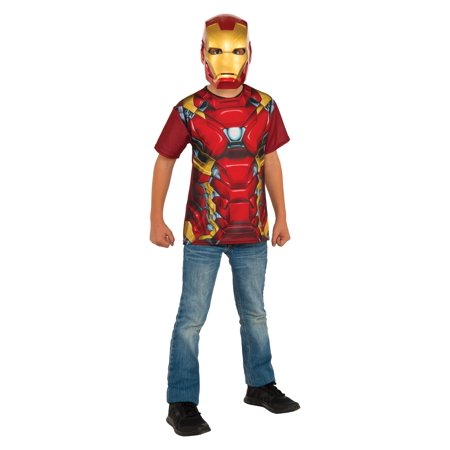 Rubie's Costume Captain America Civil War Iron Man Child Top and Mask - Iron Man Kids Costumes