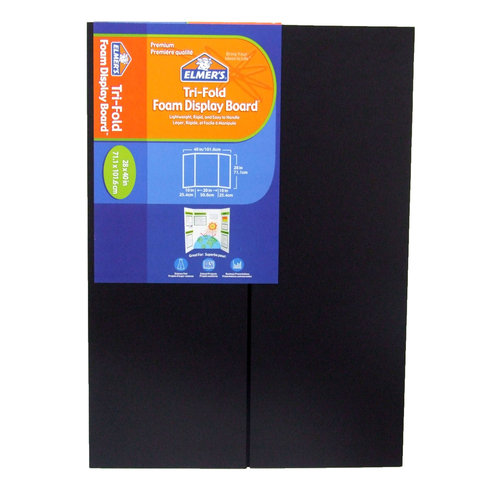elmers premium foam trifold display board 316quot thick