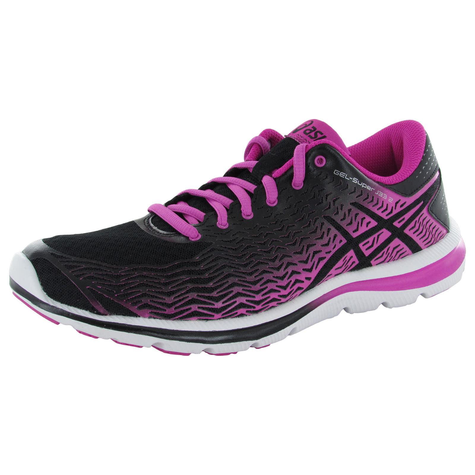 ASICS asics women's gel super j33 2 w running shoe, blackpink glowsilver, 9 m us
