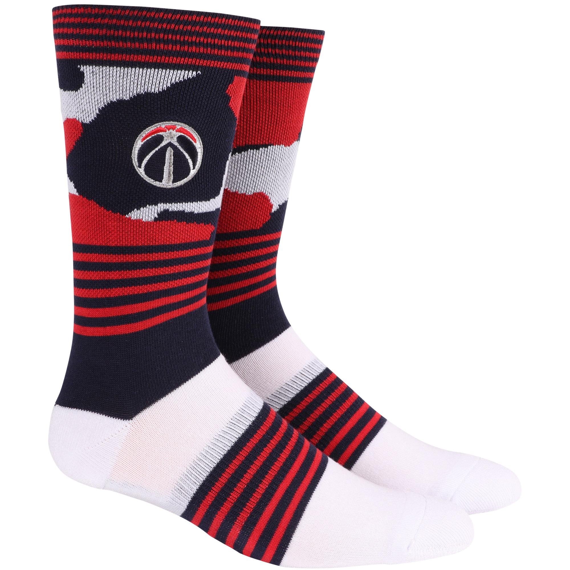 Washington Wizards Camo Crew Socks - L