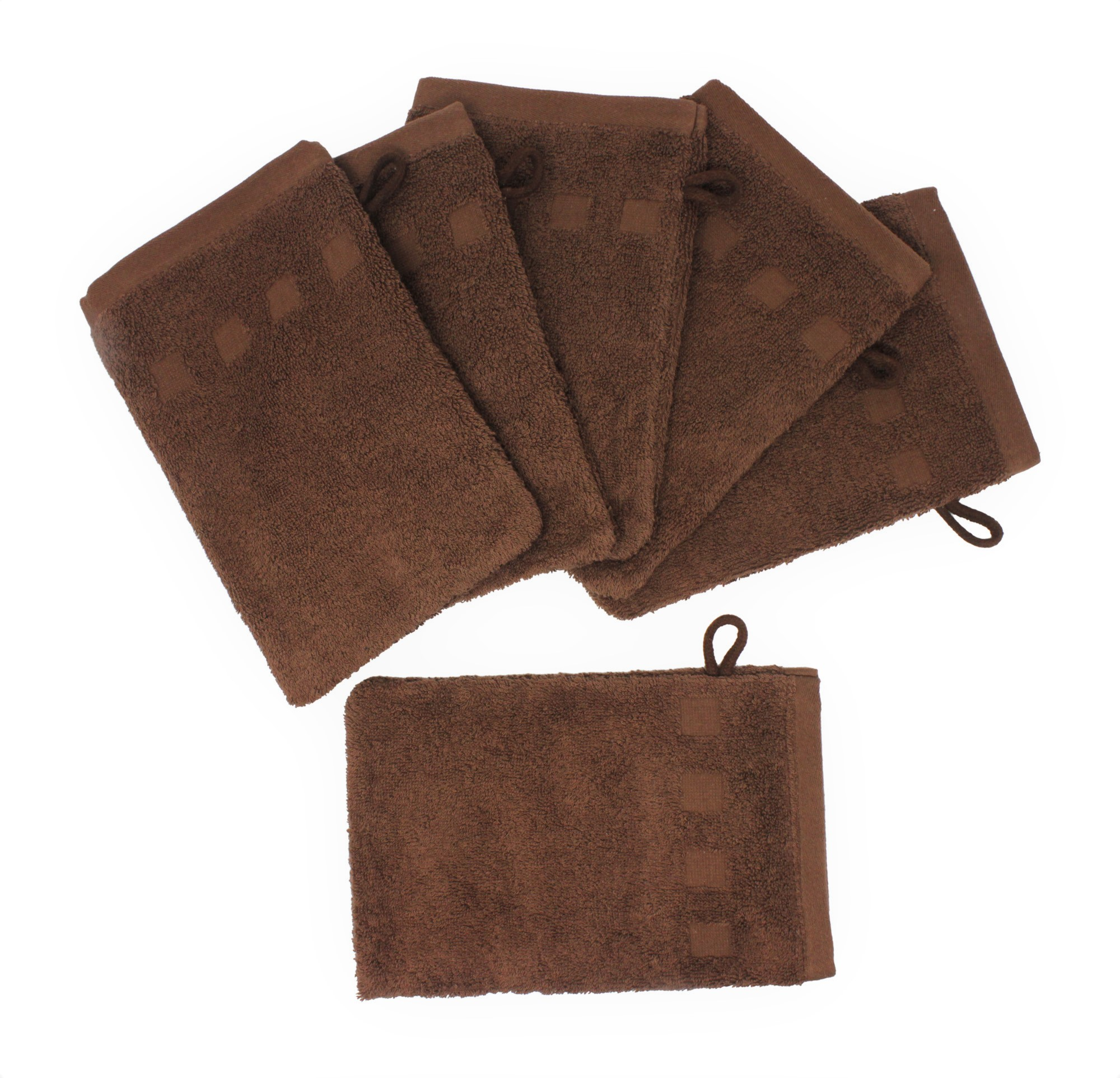 """Bath Mitts - Package of 6 - (6"""" x 9"""") European Style Washcloth by MEK"""
