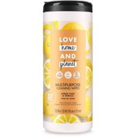 Love Home and Planet Multi-Purpose Cleaning Wipes Citrus Yuzu & Vanilla 37 count