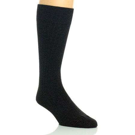 Calvin Klein Men's Classic Rib Dress Socks, Graphite Heather, Large
