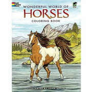 Dover Publications, Wonderful World of Horses Coloring Book