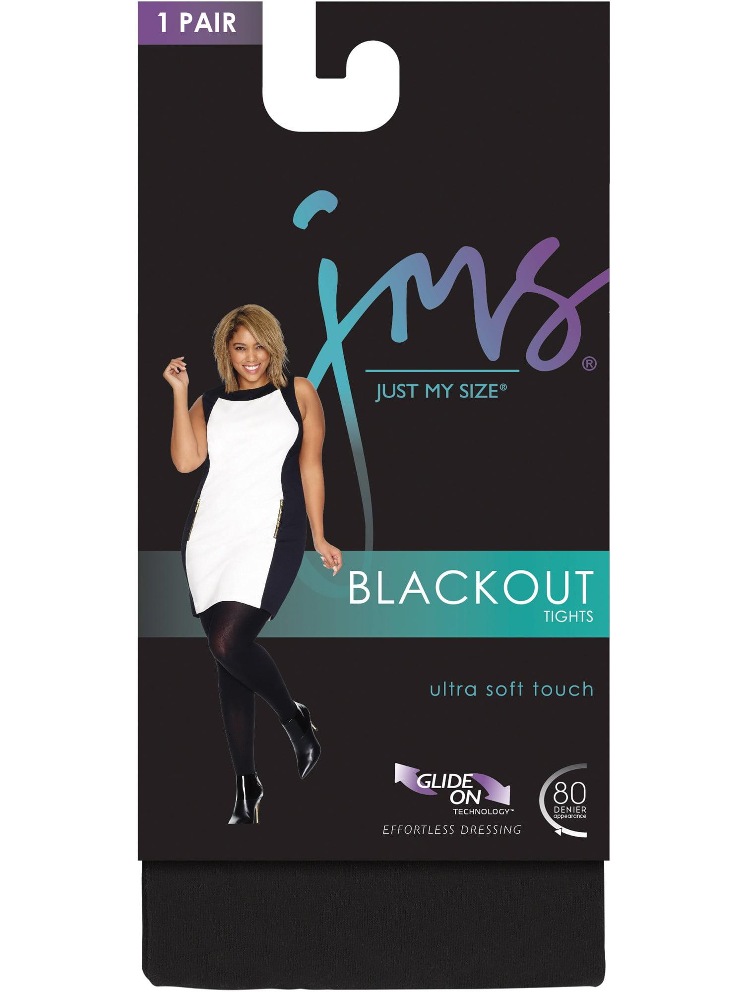 99815eb7a Just My Size - Just My Size Blackout Tight, 88906, 1X/2X, Black -  Walmart.com