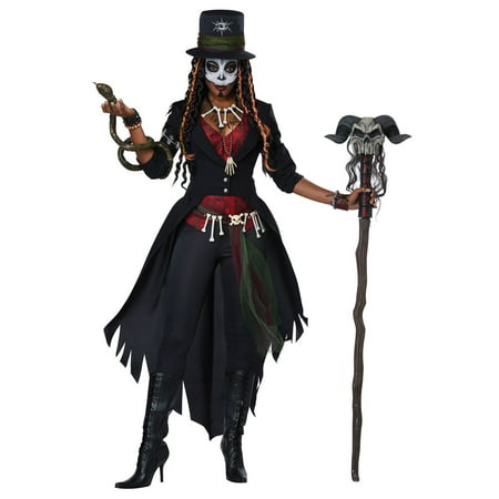 Voodoo Woman Halloween Costume (Voodoo Magic Women's Adult)