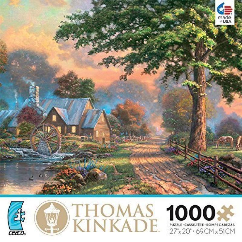 Ceaco Thomas Kinkade Simpler Times II 1000 Piece Jigsaw P...
