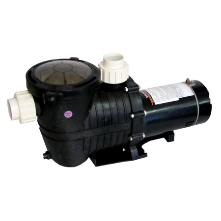 230v Pool Pump (Energy Efficient 2 Speed Pump for In-Ground Pool 1.5 HP-230V with Fittings)