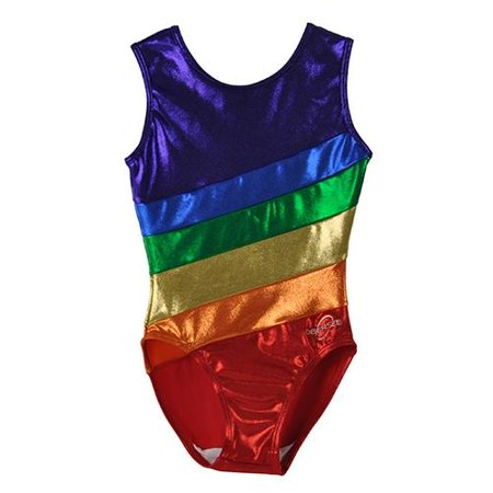 O3GL007 - Girl's Girls Gymnastics Leotard - Rainbow (Leotard Cs)