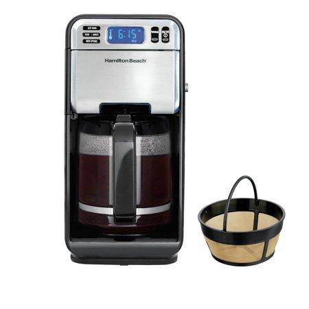 Hamilton Beach 12 Cup Digital Automatic LCD Coffeemaker Brewer & Coffee Filter Digital Filter Coffee Maker