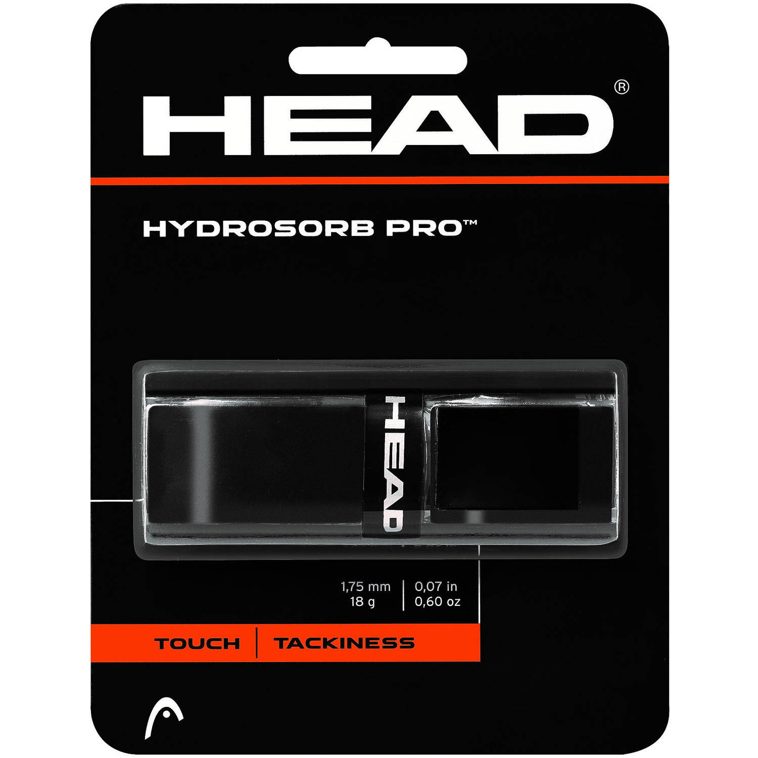 HEAD HydroSorb Tour Replacement Grip, Black