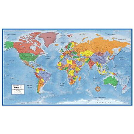 48x78 World Classic Premier Wall Map Mega Poster Walmart Com