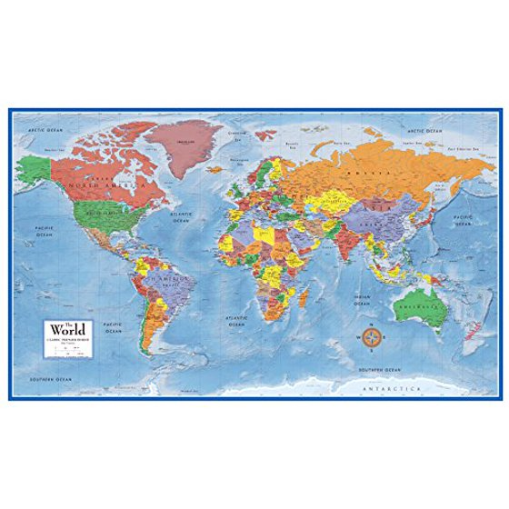 48x78 world classic premier wall map mega poster walmart 48x78 world classic premier wall map mega poster gumiabroncs Images