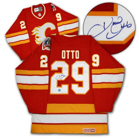 AJ Sports World OTTJ132000 JOEL OTTO Calgary Flames SIGNED 1989 Stanley Cup Jersey by